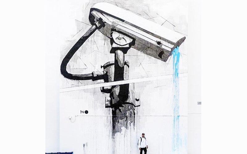 اثر آینو هنرمند گرافیتی از یونان