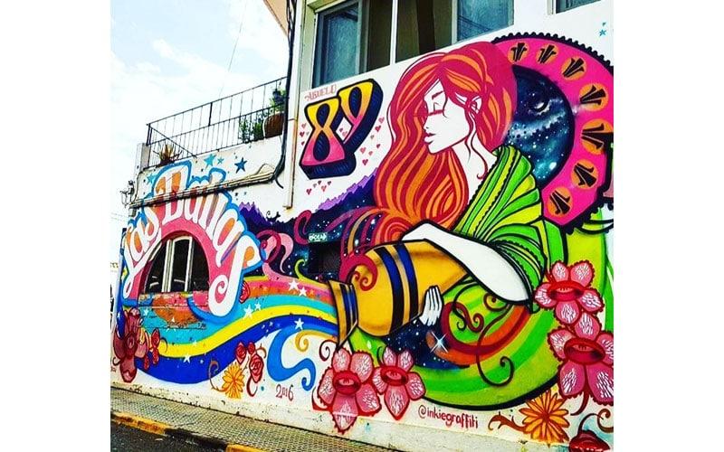 اثر اینکی هنرمند گرافیتی