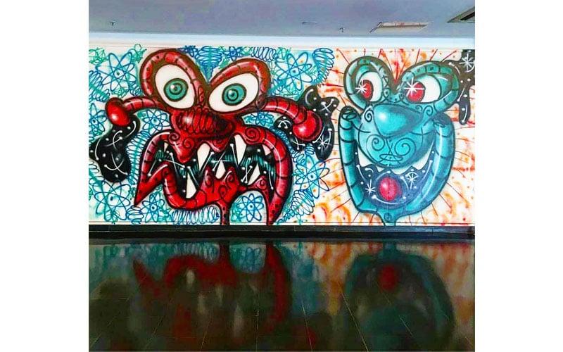 اثر کنی شارف هنرمند گرافیتی