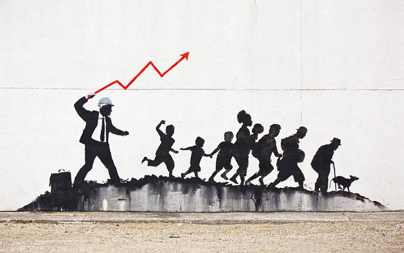 اثر هنرمند گرافیتی بنکسی
