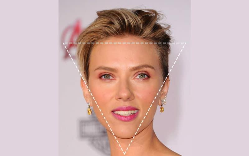 رژگونه زدن صورت های مثلثی شکل