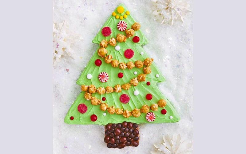 کیک برگ درخت کریسمس