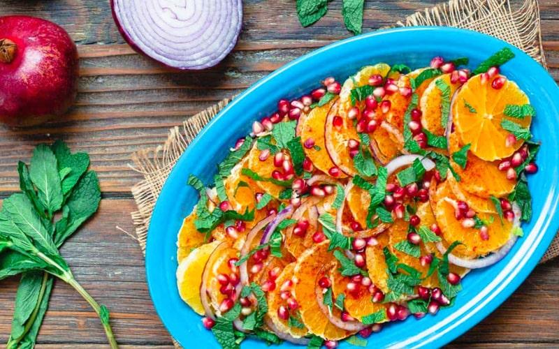 سالاد انار و پرتقال