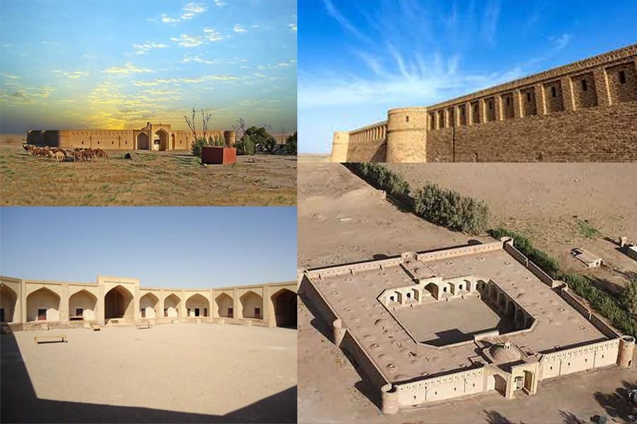 کاروانسرای شاه عباسی در کویر مرنجاب