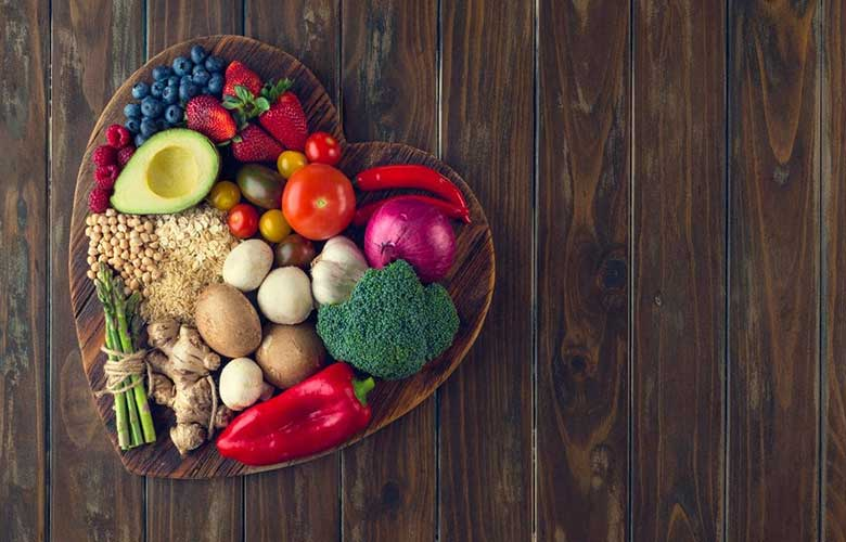 یک سینی غذای سالم ، تاثیر تغذیه بر کاهش استرس