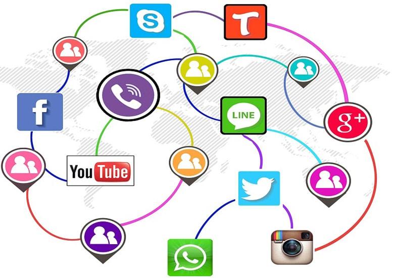 حضور در رسانه های اجتماعی