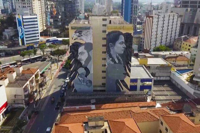 بزرگترین مجموعه نقاشی های دیواری در برزیل توسط پائولا دلفین» و چند هنرمند دیگر