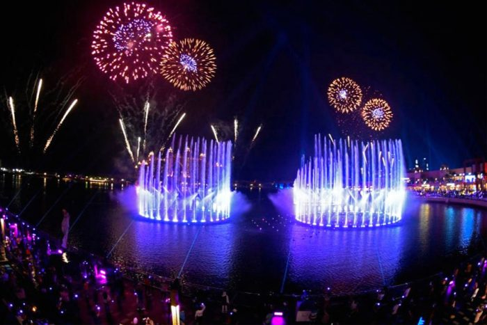 بزرگترین فواره جهان در دبی افتتاح شد