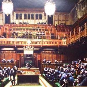 تابلوی نقاشی پارلمان از بنکسی
