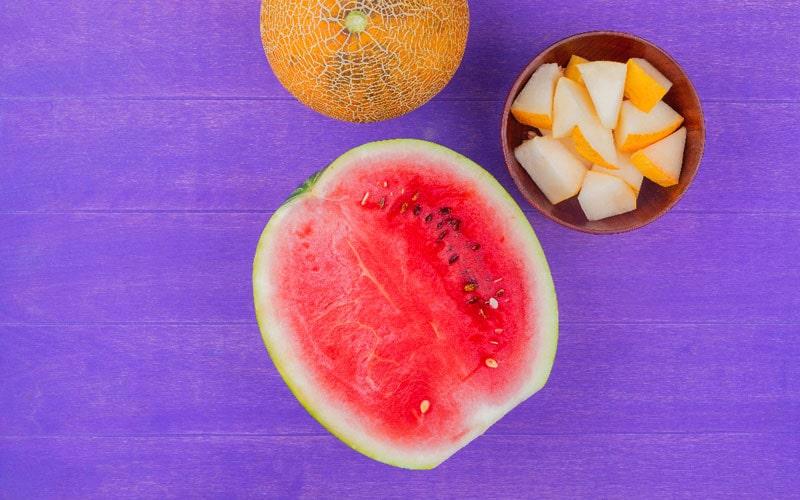 خربزه هندونه و طالبی از غذاهای تابستانی