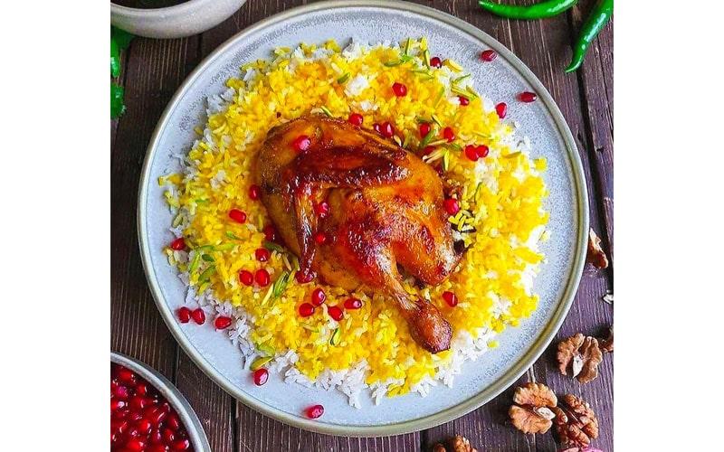 اکبر جوجه از غذاهای خوشمزه ایرانی
