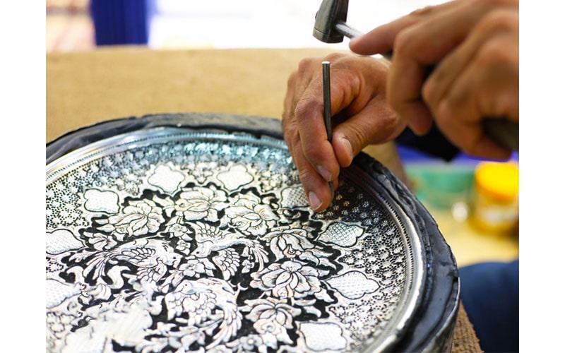 قلم زنی در شیراز از صنایع دستی ایران