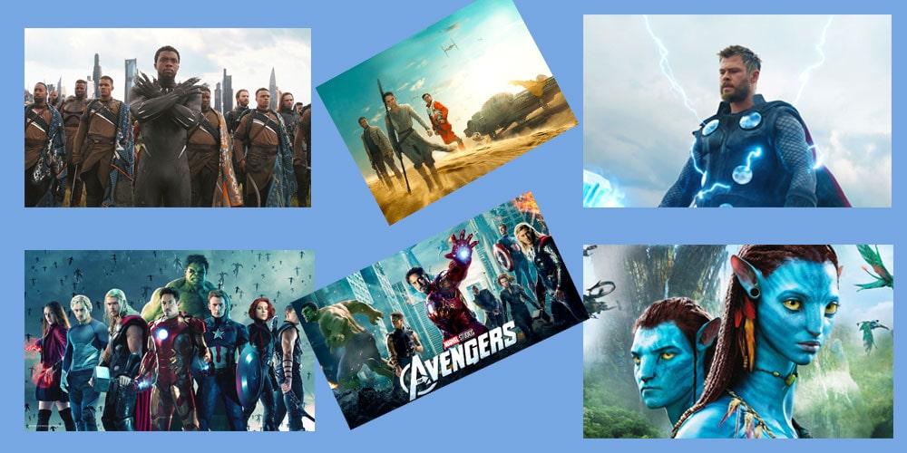 پرفروش ترین فیلم های دنیا
